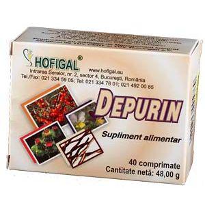 DEPURIN 40 comprimate, Hofigal