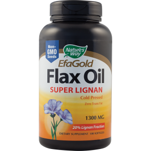 FLAX OIL SUPER LIGNAN (acizi grasi Omega-3/6/9) 100 capsule, Nature's Way