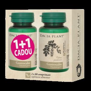 GASTROCALM 2 x 60 comprimate, 1+1 CADOU, Dacia Plant