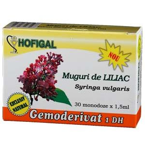 GEMODERIVAT DIN MUGURI DE LILIAC, 30 monodoze, Hofigal