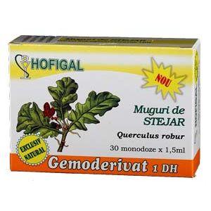 GEMODERIVAT DIN MUGURI DE STEJAR, 30 monodoze, Hofigal