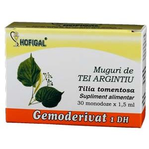 GEMODERIVAT DIN MUGURI DE TEI ARGINTIU, 30 monodoze, Hofigal