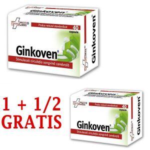 GINKOVEN, 40 capsule, 1+1/2 GRATIS, FarmaClass