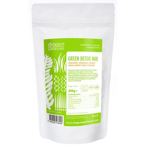 GREEN DETOX MIX RAW BIO, 200 g, Dragon Superfoods