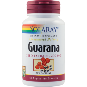 GUARANA SEED EXTRACT 60 capsule, Solaray