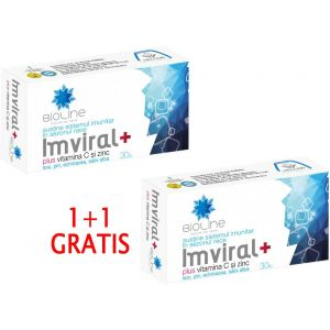 IMVIRAL PLUS VITAMINA C SI ZINC, 30 tablete 1+1 GRATIS, Ac Helcor