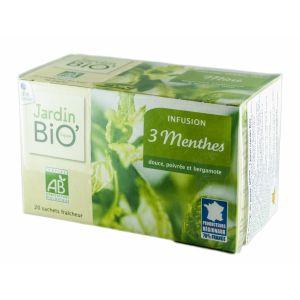 MENTA 3 SOIURI BIO, Ceai 20 plicuri x 1.5 g, Jardin Bio