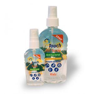GEL SPRAY ANTIBACTERIAN KIDZ 59 ml, Touch