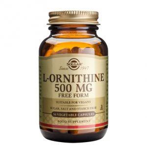 L-ORNITHINE 500 mg, 50 capsule, Solgar