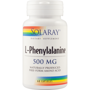 L-PHENYLALANINE 500 mg, 60 capsule, Solaray