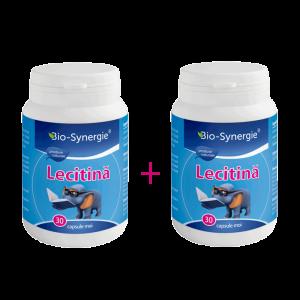 LECITINA 1200 mg, 30 capsule 1+1 GRATIS, Bio Synergie