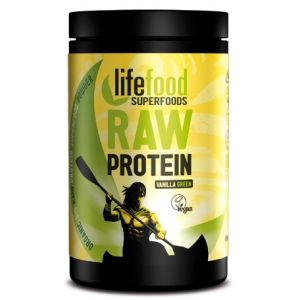 PUDRA PROTEICA GREEN VANILLA SUPERFOOD RAW BIO, 450 g, Lifefood