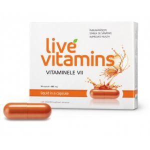 LIVE VITAMINS (VITAMINE VII) 30 capsule, Vitaslim