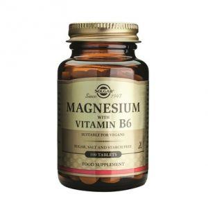 MAGNESIUM + VITAMIN B6, 100 tablete, Solgar