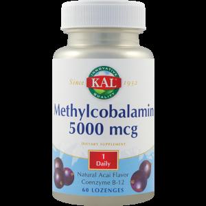 METHYLCOBALAMIN (VITAMINA B12) 5000 mcg, 60 comprimate pentru supt, Kal