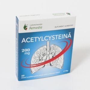 ACETYLCYSTEINA 200 mg, 20 plicuri, Laboratoarele Remedia
