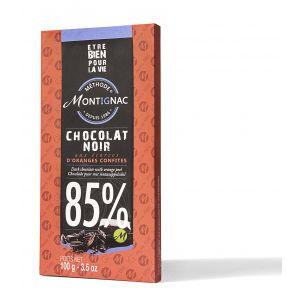 CIOCOLATA NEAGRA 85% CACAO CU COAJA DE PORTOCALA 100 g, Montignac