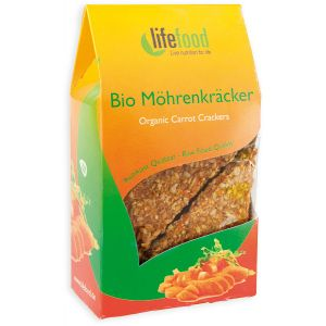 CRACKERS CU MORCOVI RAW BIO 85 g, Lifefood