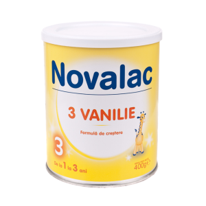 NOVALAC 3 VANILIE (1-3 ani) 400 g, Sun Wave Pharma