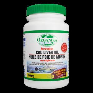 COD LIVER OIL - ULEI DIN FICAT DE COD NORVEGIAN 250 mg, 120 capsule, Organika
