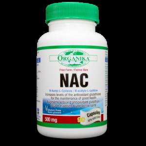 N-ACETIL-CISTEINA (NAC) 500 mg, 90 capsule, Organika