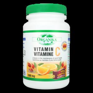 VITAMINA C SUPER TAMPONATA 500 mg, 90 capsule, Organika