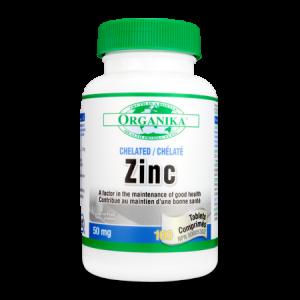 ZINC CHELATAT HVP 50 mg, 100 tablete, Organika