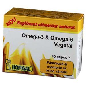 OMEGA 3 & OMEGA 6 VEGETAL 40 capsule, Hofigal