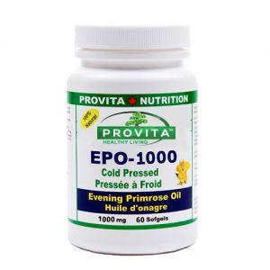 EPO 1000 - EVENING PRIMROSE OIL (ULEI DE PRIMULA) 1000 mg, 60 capsule moi, Provita Nutrition