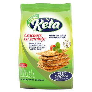 CRACKERS CU OREGANO 200 g, Keta