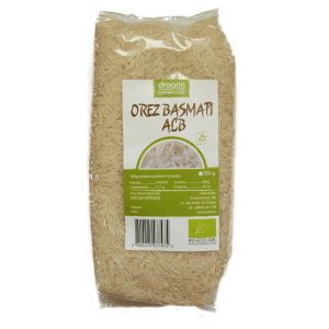 OREZ BASMATI ALB BIO, 500 g, Dragon Superfoods