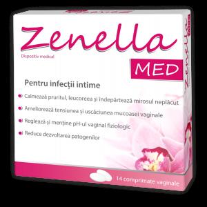 ZENELLA MED - COMPRIMATE VAGINALE PENTRU TRATAREA CANDIDOZEI , 14 comprimate, Natur Produkt