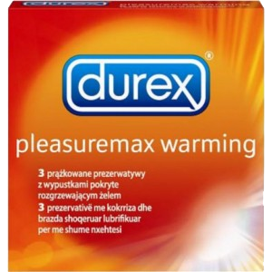 PREZERVATIVE PLEASUREMAX WARMING 3 buc, Durex