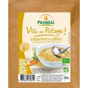 SUPA INSTANT DE LEGUME CU PASTE BIO 60 g, Primeal