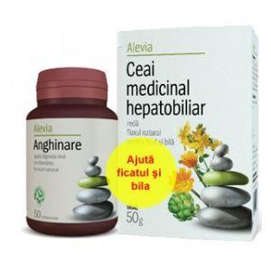 ANGHINARE 50 comprimate + CEAI HEPATOBILIAR 50 g, Alevia