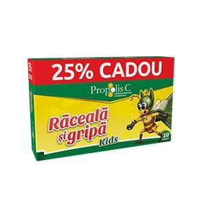 PROPOLIS C RACEALA SI GRIPA KIDS, 8+2 plicuri x 6 g, Fiterman Pharma