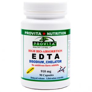 EDTA 910 mg, 90 capsule gastrorezistente, Provita Nutrition