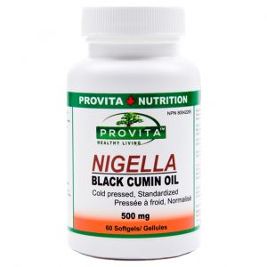 NIGELLA BLACK CUMIN OIL 500 mg, 60 capsule moi, Provita Nutrition