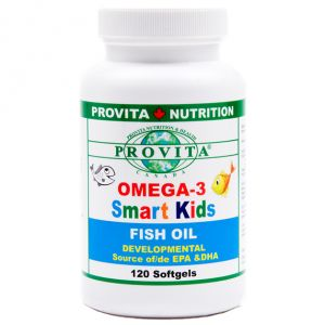 OMEGA 3 SMART KIDS 250 mg, 120 capsule, Provita Nutrition