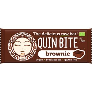 BATON BROWNIE RAW BIO 30 g, Quin Bite