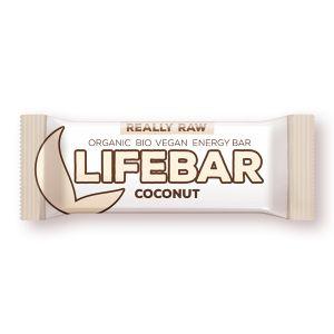 BATON CU NUCA DE COCOS LIFEBAR RAW BIO, 47 g, Lifefood