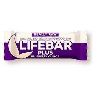 BATON CU AFINE SI QUINOA LIFEBAR PLUS RAW BIO 47 g, Lifefood