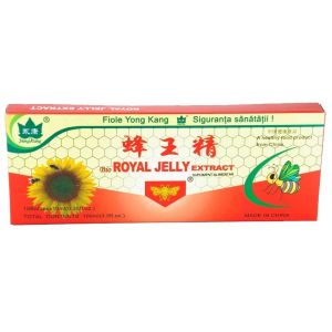 LAPTISOR DE MATCA (ROYAL JELLY) 300 mg, 10 fiole buvabile a 10 ml, Yong Kang