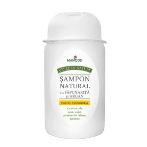 SAMPON NATURAL CU SAPUNARITA SI ARGAN PENTRU PAR NORMAL 300 ml, Manicos