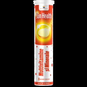 MULTIVITAMINE SI MINERALE - SUN HEALTH, 20 comprimate efervescente, Sun Wave Pharma