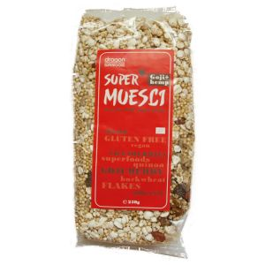SUPERMUESLI CU GOJI SI CANEPA BIO, 250 g, Dragon Superfoods