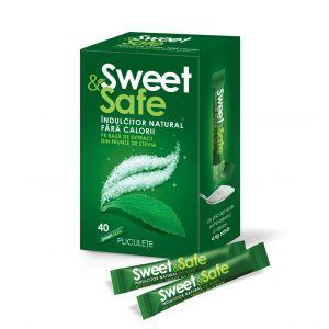 INDULCITOR STEVIA - SWEET & SAFE, 40 plicuri x 1 g, Sly Nutritia