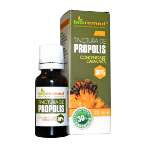 PROPOLIS CONCENTRATIE 30%, Tinctura 20 ml, Bio Remed