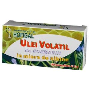 ULEI VOLATIL DE ROZMARIN IN MIERE, 30 monodoze a 2 ml, Hofigal