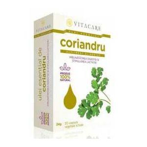 ULEI ESENTIAL DE CORIANDRU 50 mg, 30 capsule, Vitacare